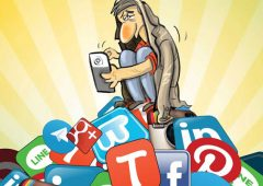Caricatures of addiction to the cyberspace 1